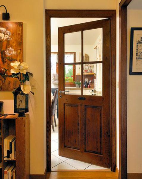 porte d'entrée style rustique