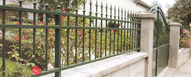 Portai let clôture acier galvanisé Hery