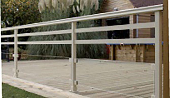 Garde corps de terrasse en aluminium