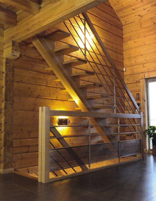 Escalier droit sur crémaillière