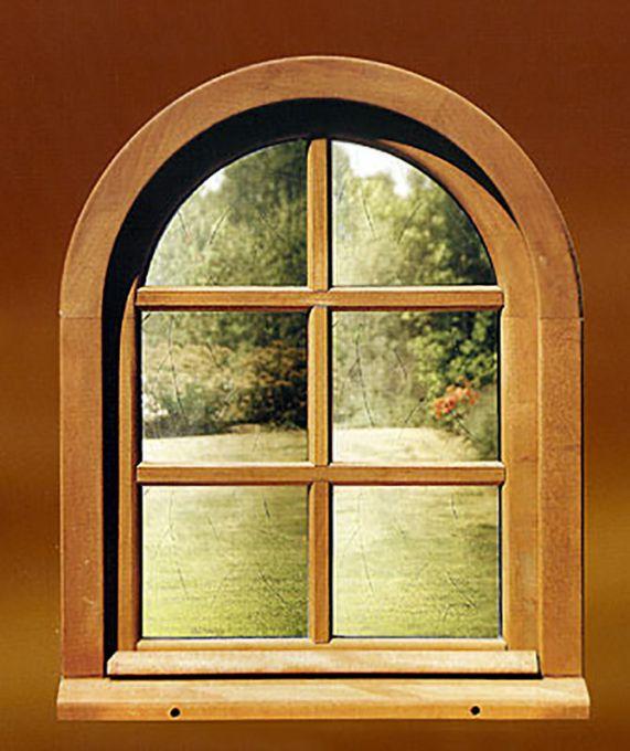 fenêtre bois arrondie