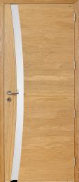 Porte intérieure en chêne naturel