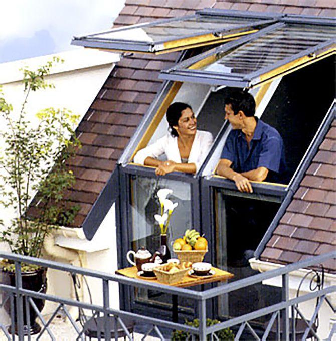 fenetre de toit et balcon Velux