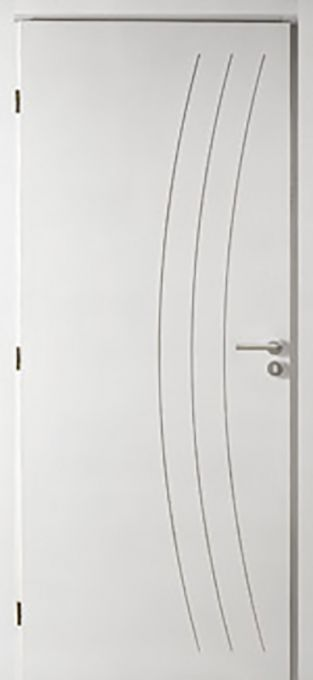 porte bois pré-peint modèle Horizon