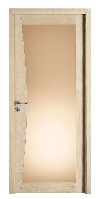 Tramontane chène blanchi brossé vitrage bronze