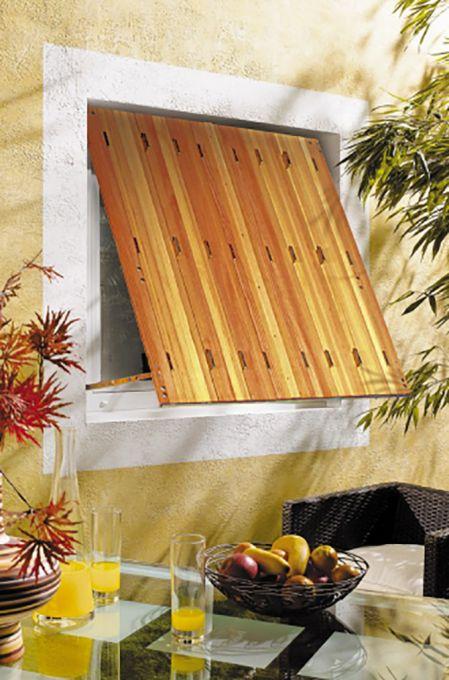 Persienne pliante en bois