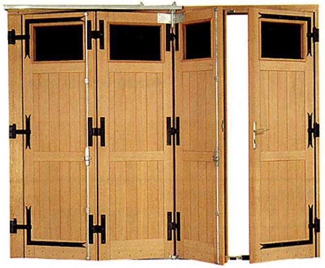 Porte de garage à  vantaux vue intérieure