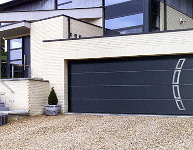 Porte de garage sectionnelle style moderne