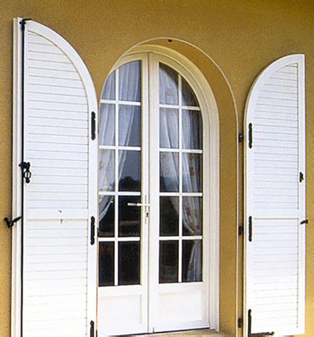 porte fenêtre PVC arrondie